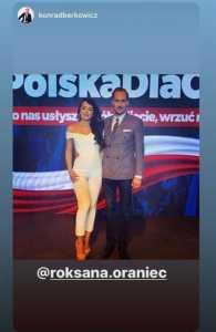 Konrad Berkowicz oraz Roksana Oraniec. / foto: Prt Sc Instagram:roksana.oraniec