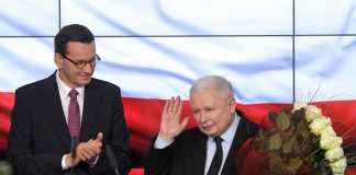 Mateusz Morawiecki i Jarosław Kaczyński, wybory parlamentarne 2019/Fot. PAP