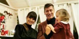 Anna i Robert Lewandowscy z Klarą, spędzają święta. Foto: Instagram