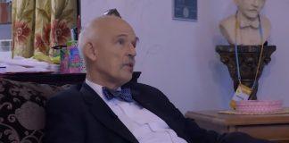 """Janusz Korwin-Mikke o kornawirusie i klimatystach. """"Nie powiesimy ich za to. Nie byłoby epidemii"""". Foto: print screen z YouTube/Super Express"""