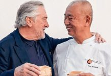 Robert De Niro i Nobu Matsuhisa Foto: instagram.com/nobuhotelwarsaw