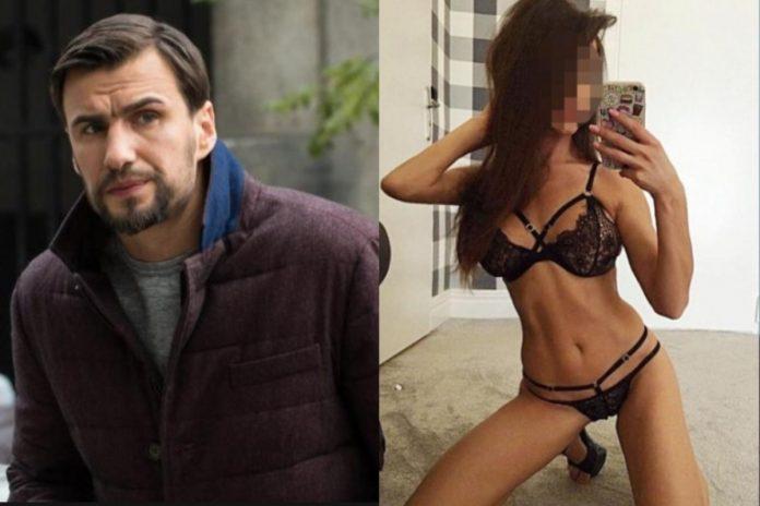Jarosław Bieniuk i modelka, która oskarżyła go o gwałt.