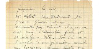 Fragment listu van Gogha i Gauguina.
