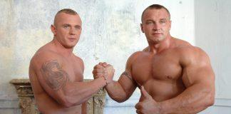 Krystian Pudzianowski (z lewej) z bratem Mariuszem. Foto: PAP