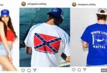 "Victoria Fuller i hasło ""White Lives Matter"" Źródło: Instagram"