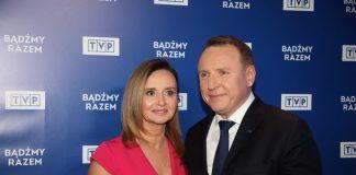 Jacek Kurski, Joanna Kurska Źródło: PAP