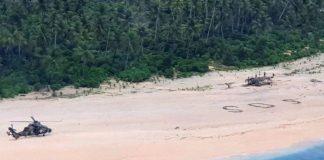 Rozbitkowie uratowani z bezludnej wyspy.